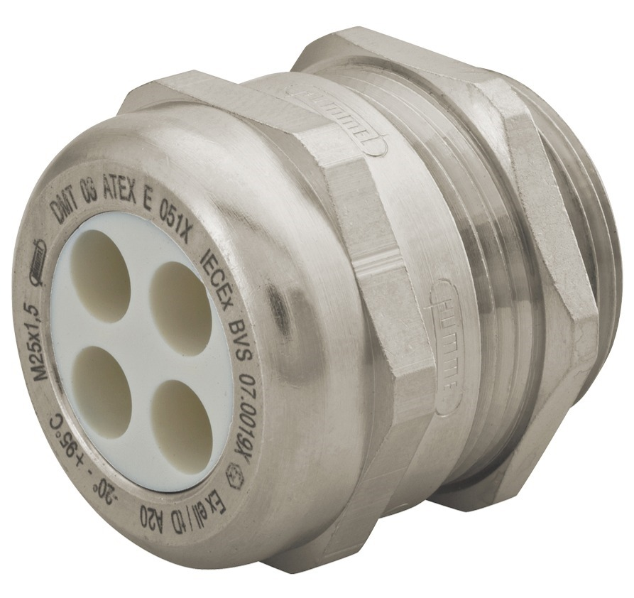 """Sealcon: CD13N2-MX..SStrain Relief, Multi-Hole, For Hazardous Locations, Dome Top, Nickel Plated Brass, 1/2""""NPT, Holes: 6 X .12"""" (3.0 Mm), 1.687.1201.70.."""