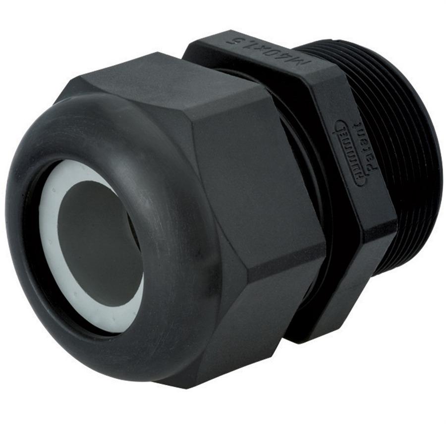 Sealcon: Strain Relief, For Hazardous Locations, Dome Top, Black Nylon,, M20 X 1.5 Elongated