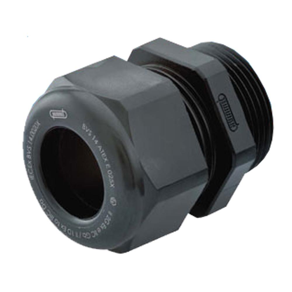 "Sealcon: CD22DR-BX Strain Relief, For Hazardous Locations, Dome Top, Black Nylon, Elongated M20 X 1.5, Cable Range .28 – .47"" (7 – 12 Mm), 1.295.2001.31.."