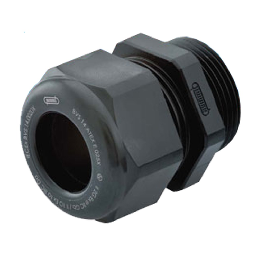 "Sealcon: CD25MA-BX Strain Relief, For Hazardous Locations, Dome Top, Black Nylon, M25 X 1.5, Cable Range .51 – .71"" (13 – 18 Mm), 1.295.2501.50.."