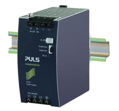 PULS  DIN-Rail Power Supply For 3-phase Systems- 24V/10A