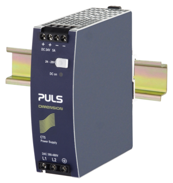 PULS  DIN- Rail Power Supply For 3-phase Systems- 24V/5A