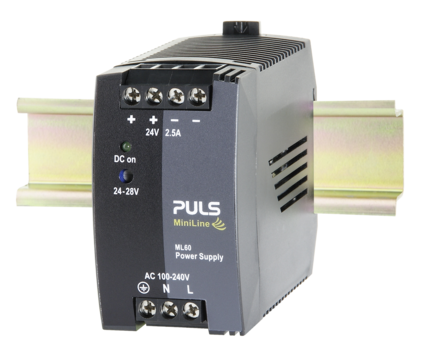 PULS  DIN- Rail Power Supply For 1-phase Systems- 24V/2.5A