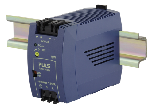 PULS  DIN- Rail Power Supply For 1-phase Systems- 24V/3A