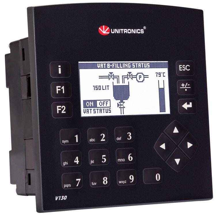 Unitronics- Vision 130 10 DI, 2 AI, 2 HSO, 6 DO