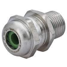 "Sealcon: CD16MA-6VX-D Strain Relief, Stainless Steel (INOX) 316 ATEX IECEx Strain Relief, PVDF Spline, Viton Insert & O-ring, .20"" – .39"" (5 – 10 Mm), M16 Thread, 1.633.1600.50M16 X 1.5.."