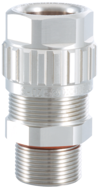 1.608.3203.50 EXIOS (A2F), Ex-d/ATEX/IEC Ex, Nickel Plated Brass, Silicon Seal, For No M32 X 1.5