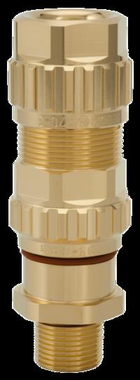 1.605.2500.51 EXIOS (Standard), Ex-d/ATEX/IEC Ex, Bare Brass, High-End Cable Gland