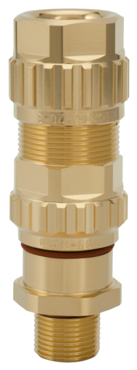 1.605.1200.70 EXIOS (Standard), Ex-d/ATEX/IEC Ex, Bare Brass, High-End Cable Gland 1/2″ NPT