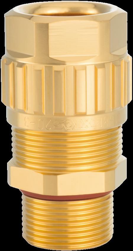 1.608.1200.71 EXIOS (A2F), Ex-d/ATEX/IEC Ex, Bare Brass Gland, Silicon Seal, For Non 1/2″ NPT