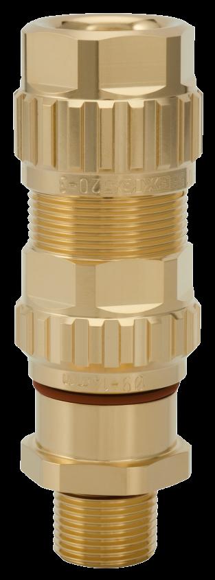 1.605.1200.71 EXIOS (Standard), Ex-d/ATEX/IEC Ex, Bare Brass, High-End Cable Gland 1/2″ NPT