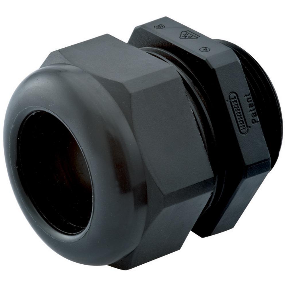 Strain Relief, Dome Top, Black Nylon, PG13, Cable Range .24 – .47″ (6 – 12 Mm), 1.209.1301.14