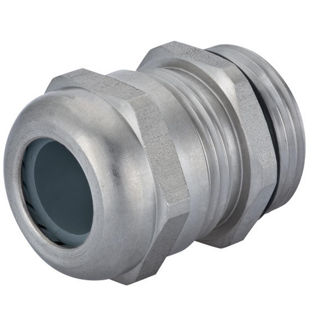 "Sealcon:CD16NR-6X-D , Strain Relief, Ex-d (316) Stainless Steel Strain Relief Fittings, Nylon Spline, Viton Insert & O-ring, .28: – .47"" (7 – 12 Mm), 1/2"" NPT Thread, 1.632.1200.71"