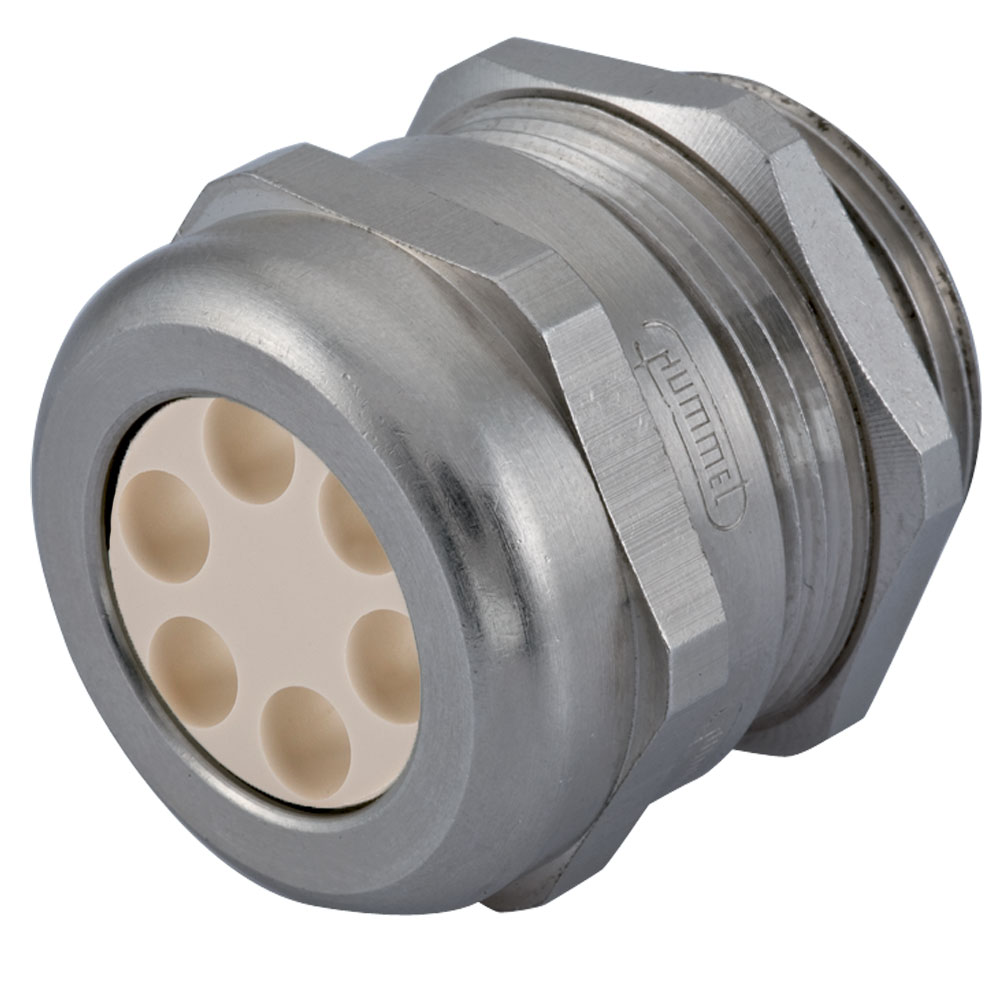 """Sealcon CD29N1-BR Multi-Hole Strain Relief Fittings, Cord Grips, Cable Glands..Nickel Plated Brass – 1"""" NPT Thread"""
