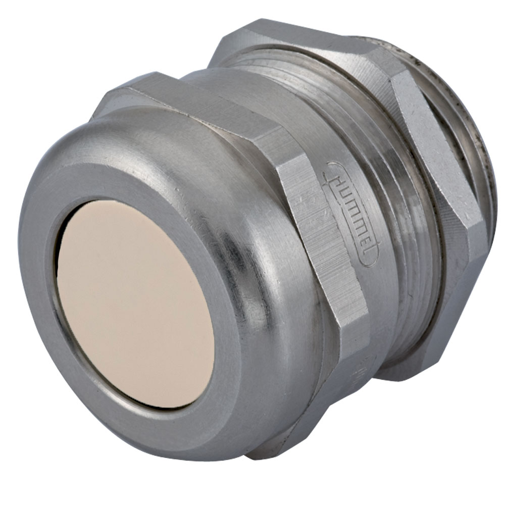 """Sealcon Part #: CD29NP-BR, Nickel Plated Brass Multi-Hole Strain Relief Fittings NPT, Thread Range: 1"""" NPT, Body Length (B) 1.14"""" (29 Mm), Thread Length (D) .75"""" (19 Mm), Wrench Flat (F1/F) 1.57"""""""
