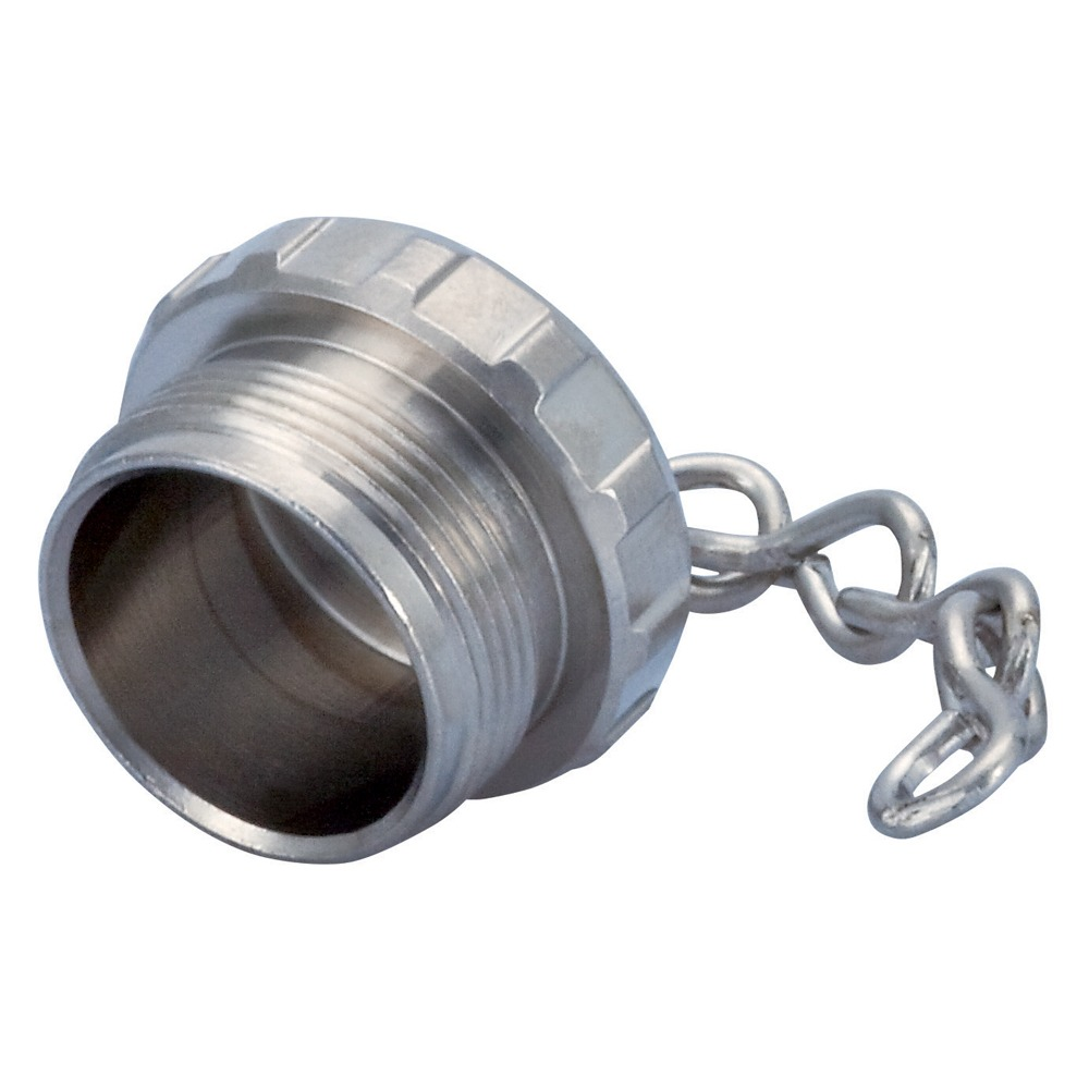 Sealcon: M23, Brass Protective Cap With Chain, For Connectors With Female Thread, Chain 100mm