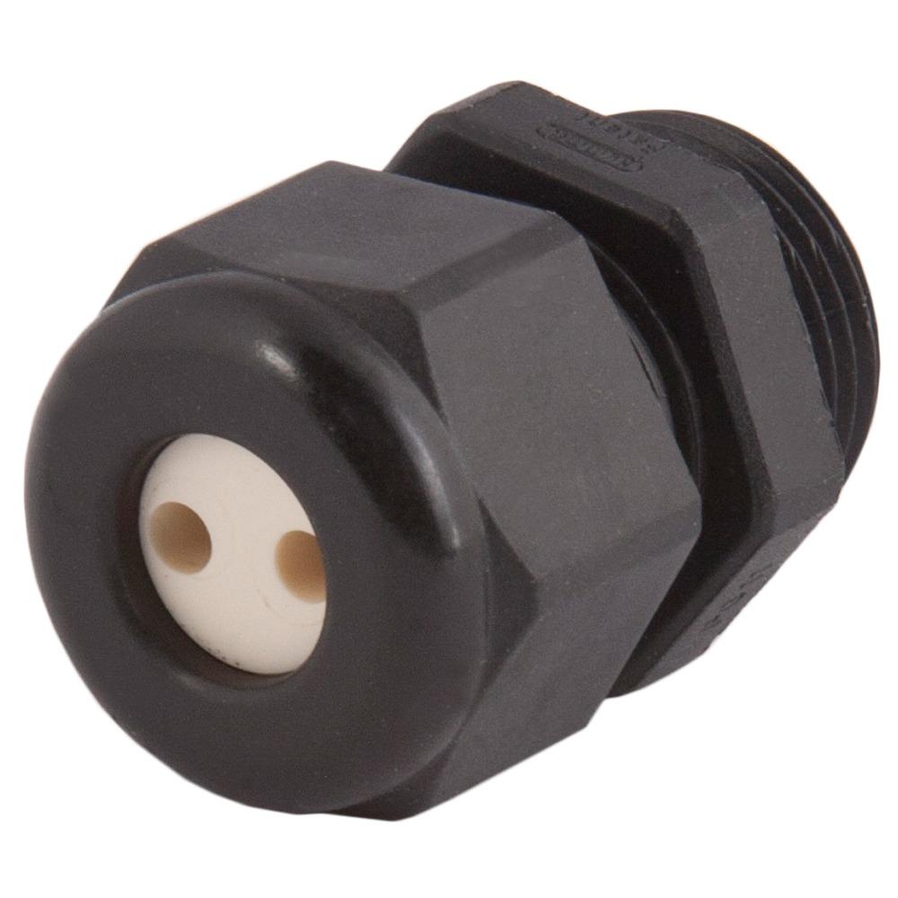 Strain Relief, Multi-Hole, Dome Top, Black Nylon, 1″NPT, Holes: 2 X .43″ (11 Mm), 1.209.1001.70 & 1.089.2908.19