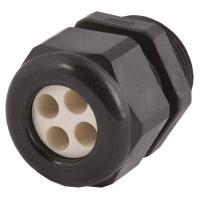 Strain Relief, Multi-Hole, Dome Top, Black Nylon, 1/2″NPT, Holes: 4 X .16″ (4.0 Mm), 1.597.1218.71