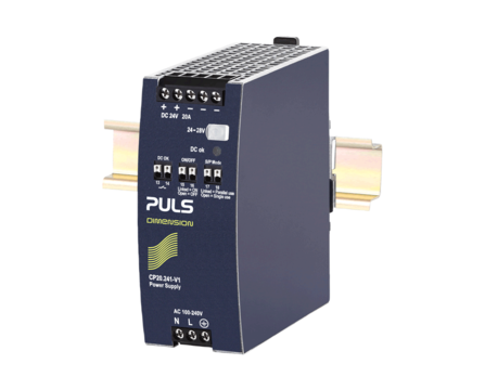 PULS DIN-Rail Power Supply For 1-phase Systems-24V/20A