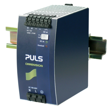 PULS DIN-Rail Power Supply For 1-phase Systems-12V/15A
