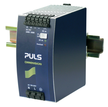 PULS DIN-Rail Power Supply For 1-phase Systems-30V/8A