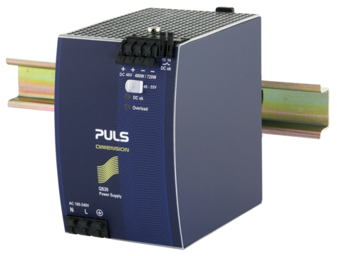 PULS DIN-Rail Power Supply For 1-phase Systems-48V/10A