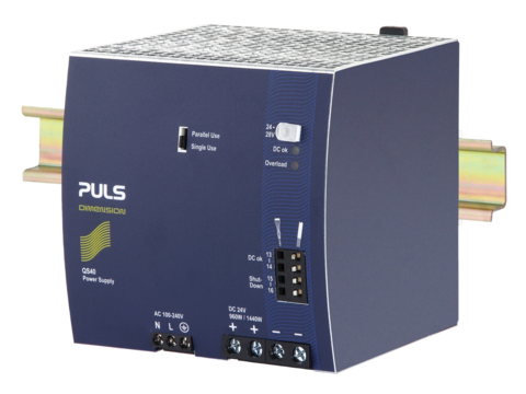 PULS DIN-Rail Power Supply For 1-phase Systems-24V/40A