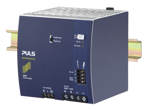 PULS DIN-Rail Power Supply For 1-phase Systems-36V/26.7A