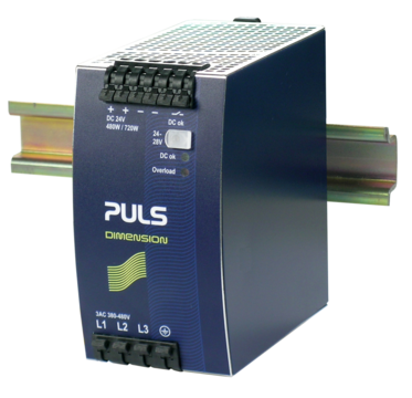 PULS DIN-Rail Power Supply For 3-phase Systems-24V/20A
