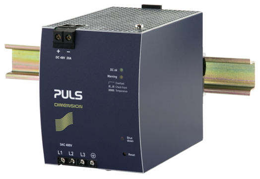 PULS DIN-Rail Power Supply For 3-phase Systems-48V/20A