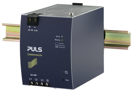PULS DIN-Rail Power Supply For 3-phase Systems-72V/13.3A