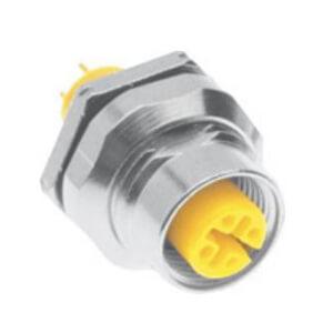 Turck Receptacle M12 Eurofast 0.5 M Cable Rear
